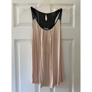 Express tan and black top size M